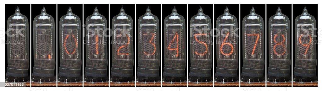 vacuum tubes set stock photo