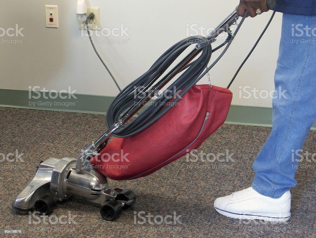 Vacuuming royalty-free stock photo