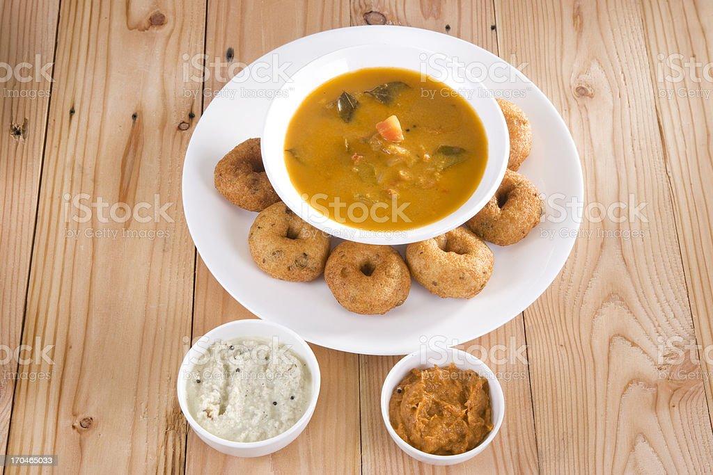 Vada with Sauce, Indian Dish stock photo