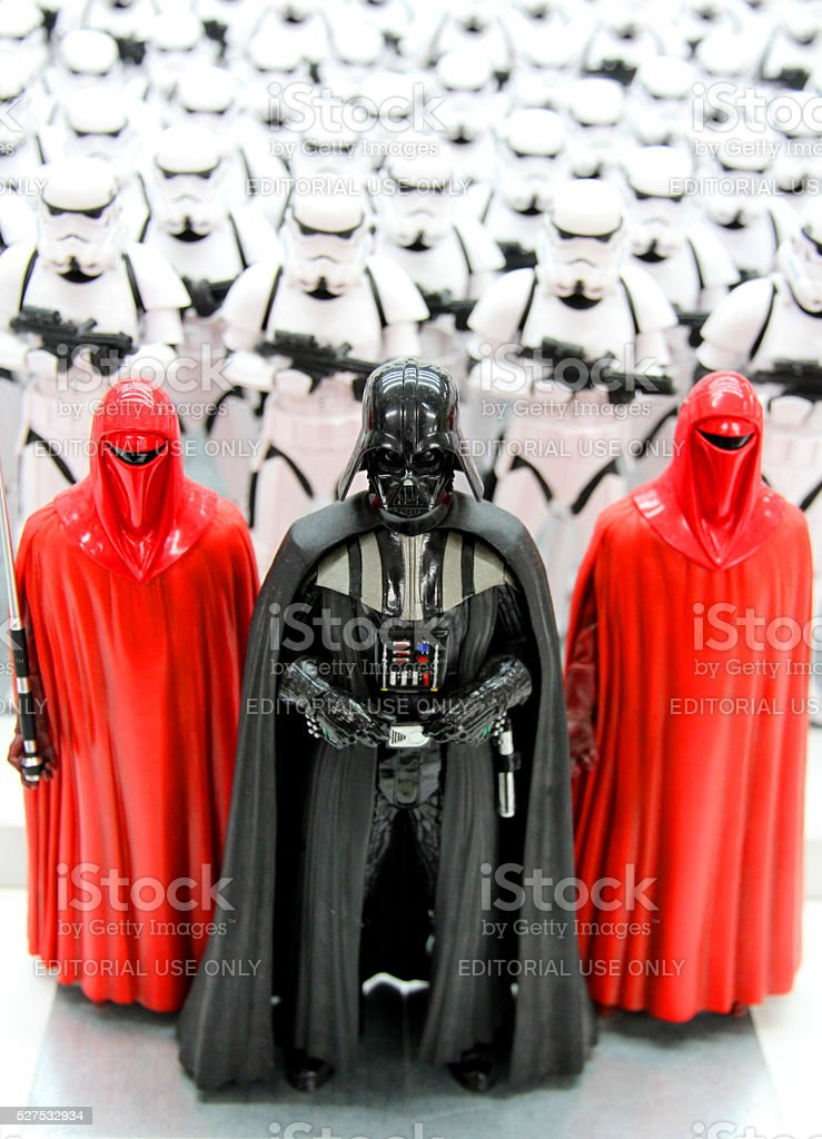 Vader and Guards stock photo