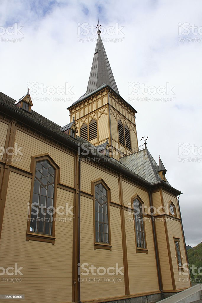 Vagan Church stock photo