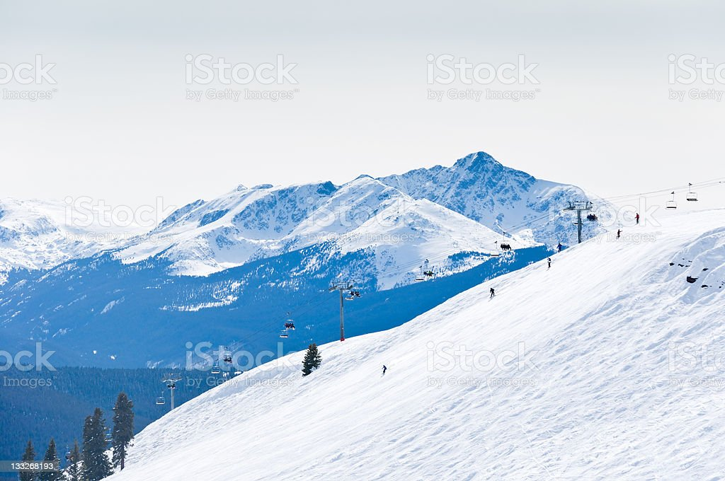 Vail Colorado Ski Resort Chairlift in Winter stock photo