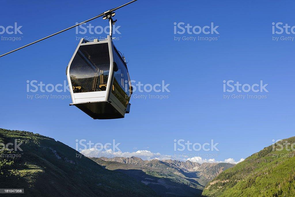 Vail Colorado Summer Gondola Gore Range stock photo