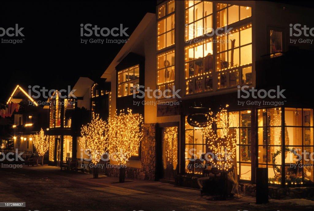 Vail Village at Night stock photo