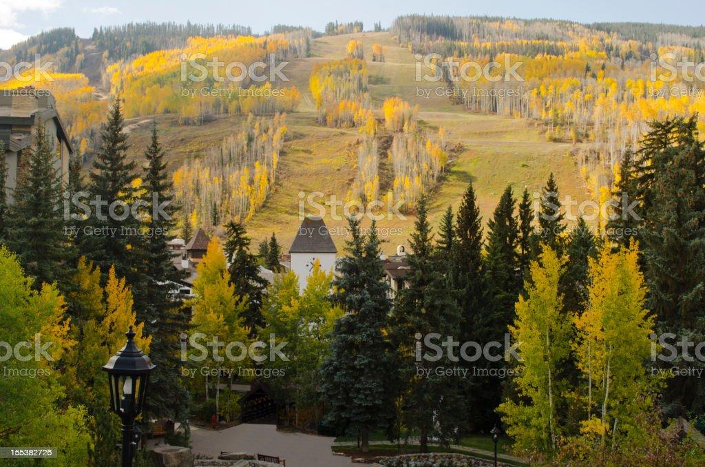 Vail Village in Autumn stock photo