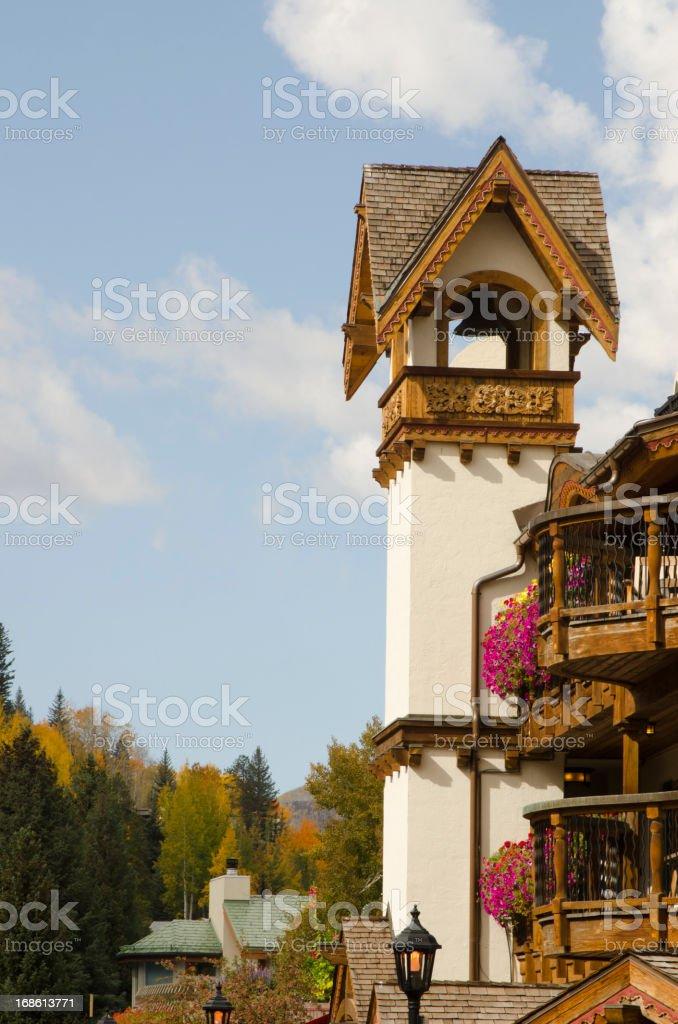 Vail Village in Autumn royalty-free stock photo