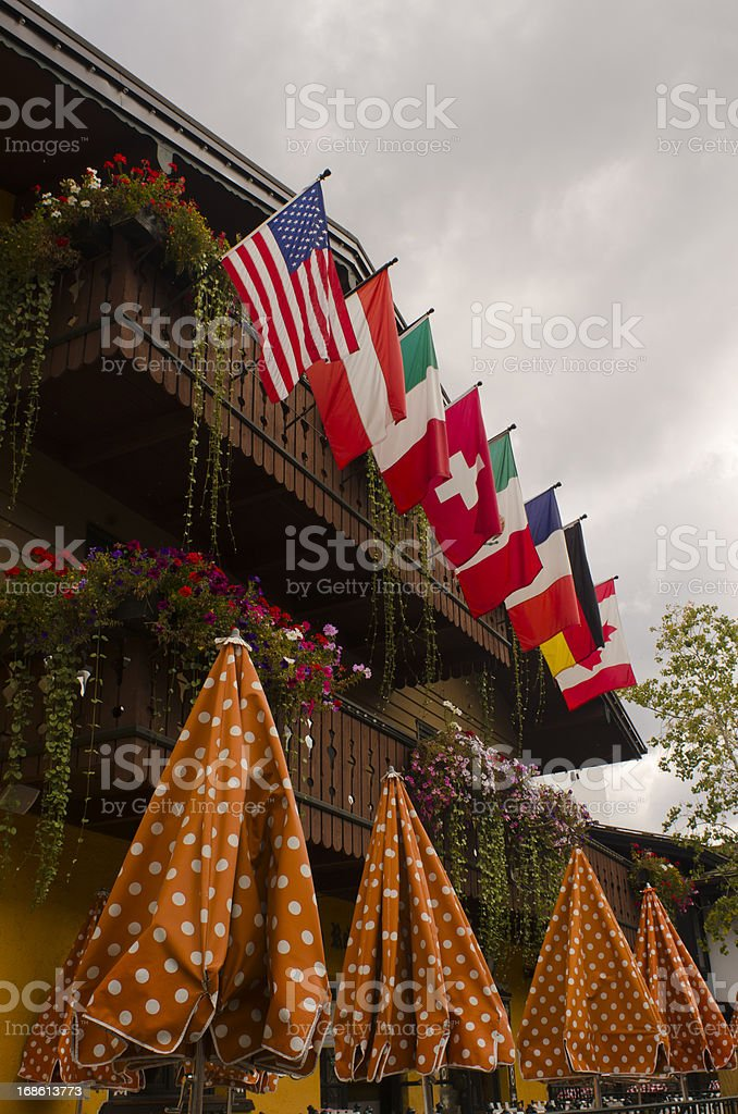 Vail Village in Autumn royalty-free stock photo