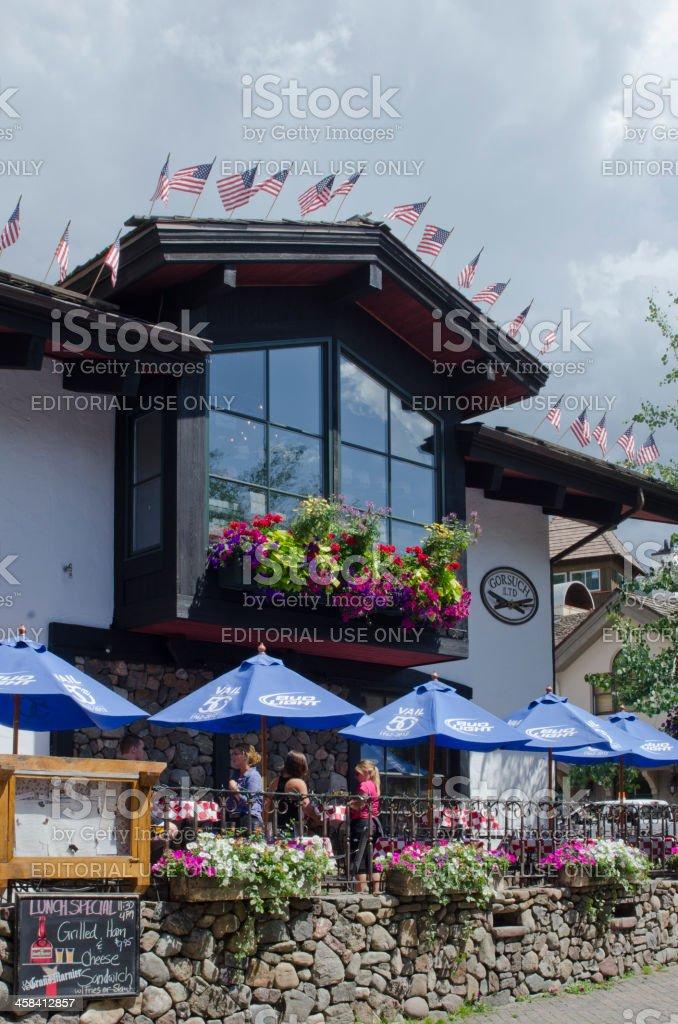 Vail Village in Summer stock photo
