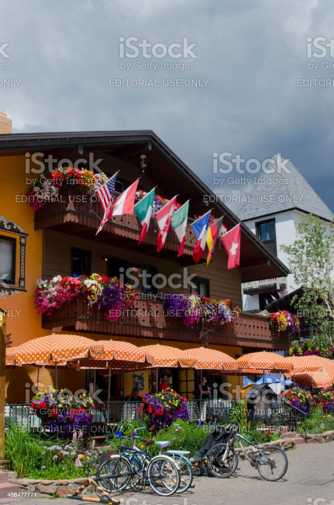 Vail Village in Summer royalty-free stock photo