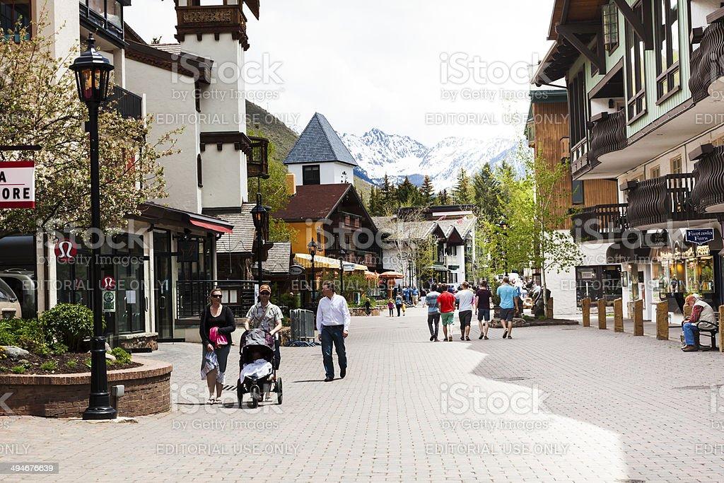 Vail village - resort in Colorado, USA stock photo