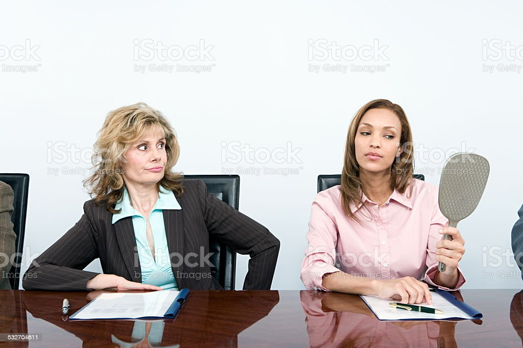 Vain businesswoman stock photo
