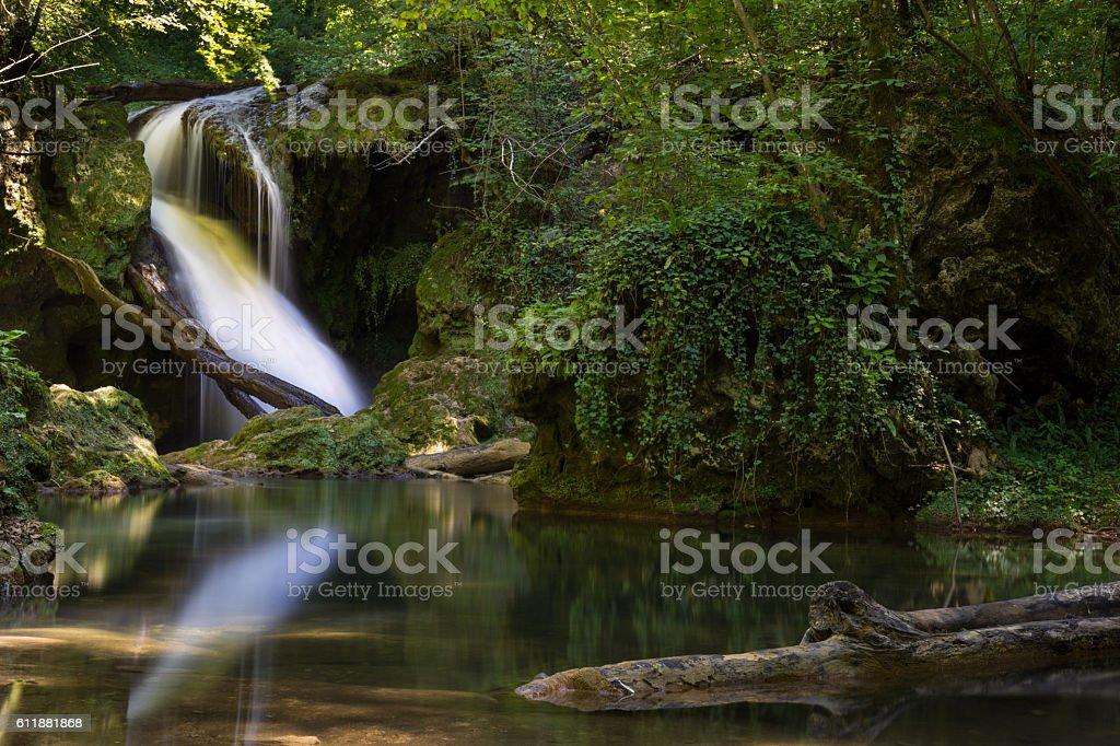 Vaioaga waterfall in the Nera National Park, Romania stock photo