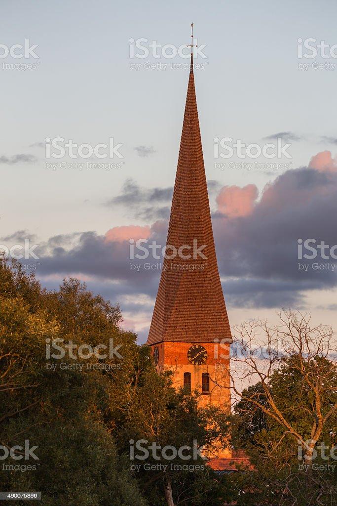 Vaksala church stock photo