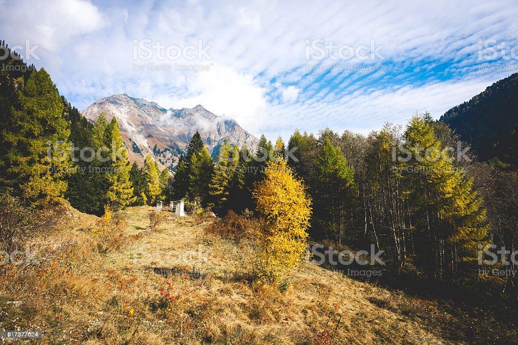 Val Bregaglia, Switzerland stock photo