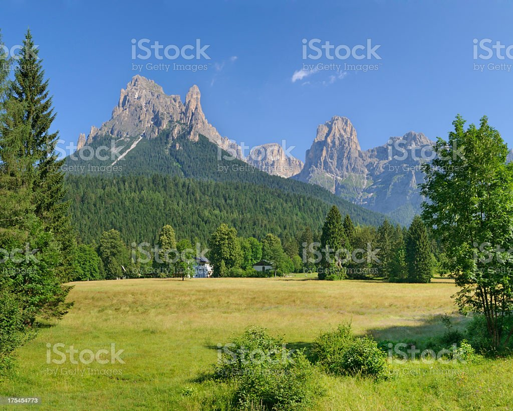 Val Canali (Dolomites - Italy) stock photo