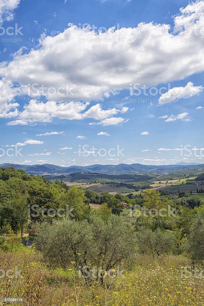 Val di Cecina view-Tuscany. Color image stock photo