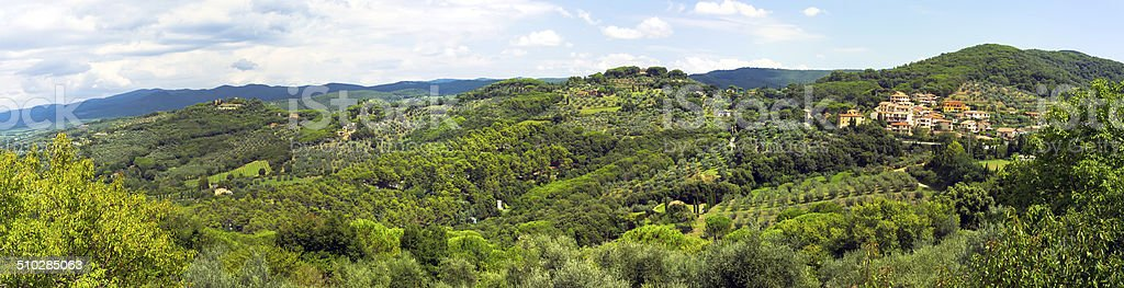 Val di Cornia-Tuscany-panorama. Color image stock photo