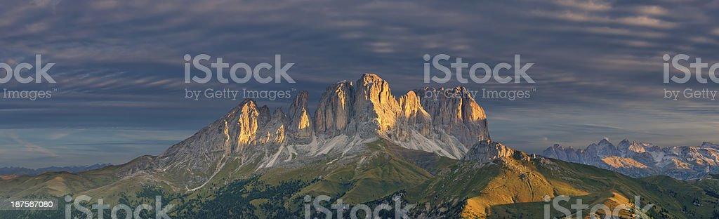 Val di Fassa (Dolomiti - Italia) stock photo