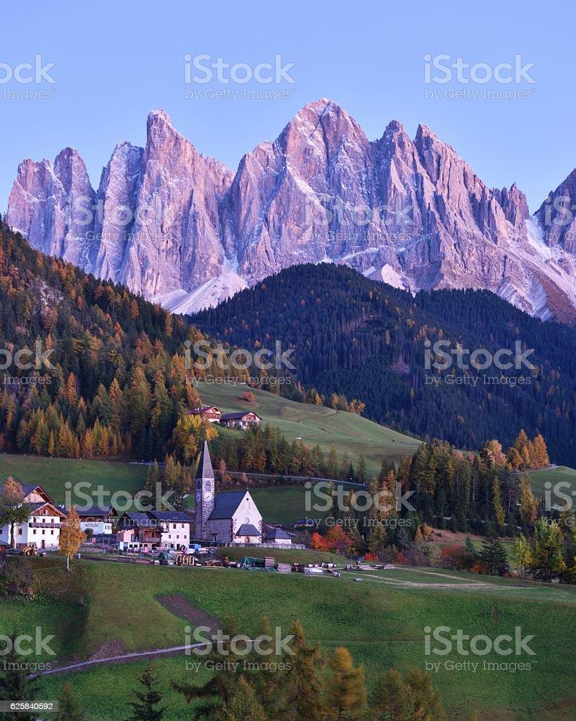 Val di Funes, Dolomites, Italy stock photo