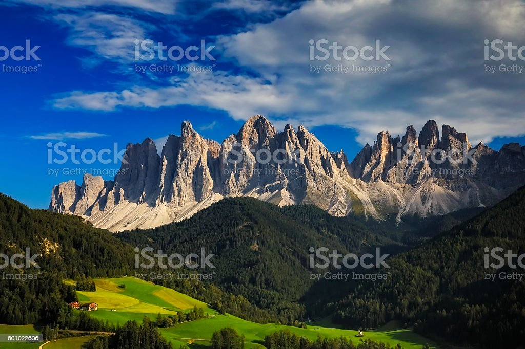 Val di Funes, San Giovanni Church - Villnöss, southtirol stock photo
