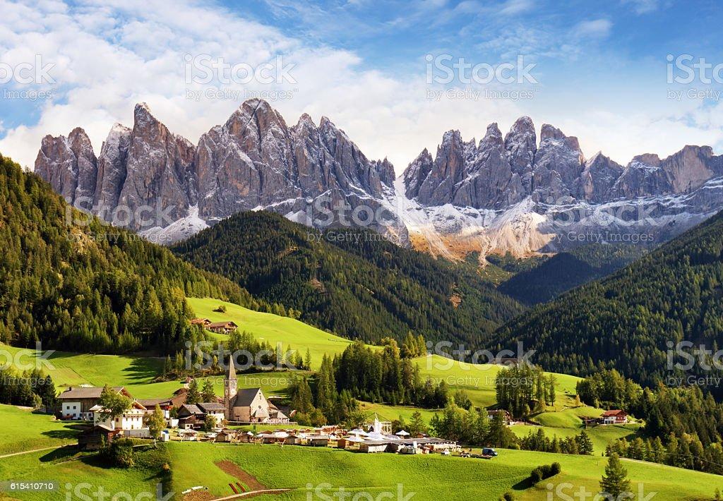 Val di Funes, Trentino Alto Adige, Italy. stock photo