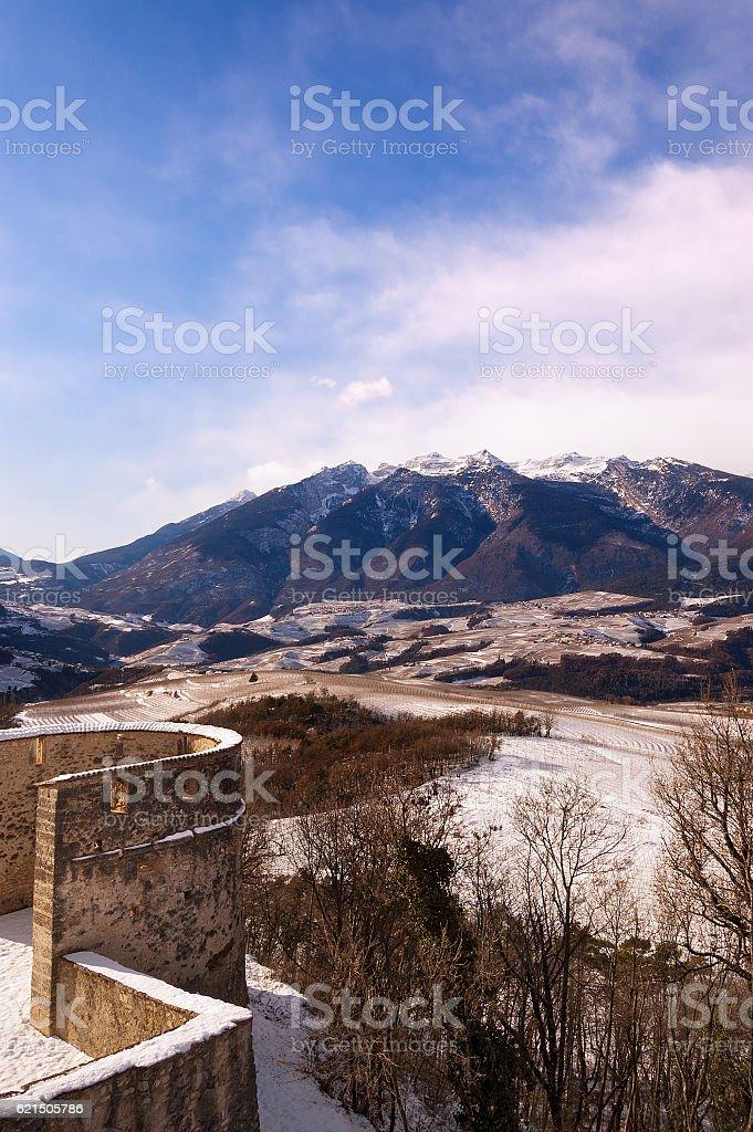 Val di Non in Winter - Trentino Italy stock photo
