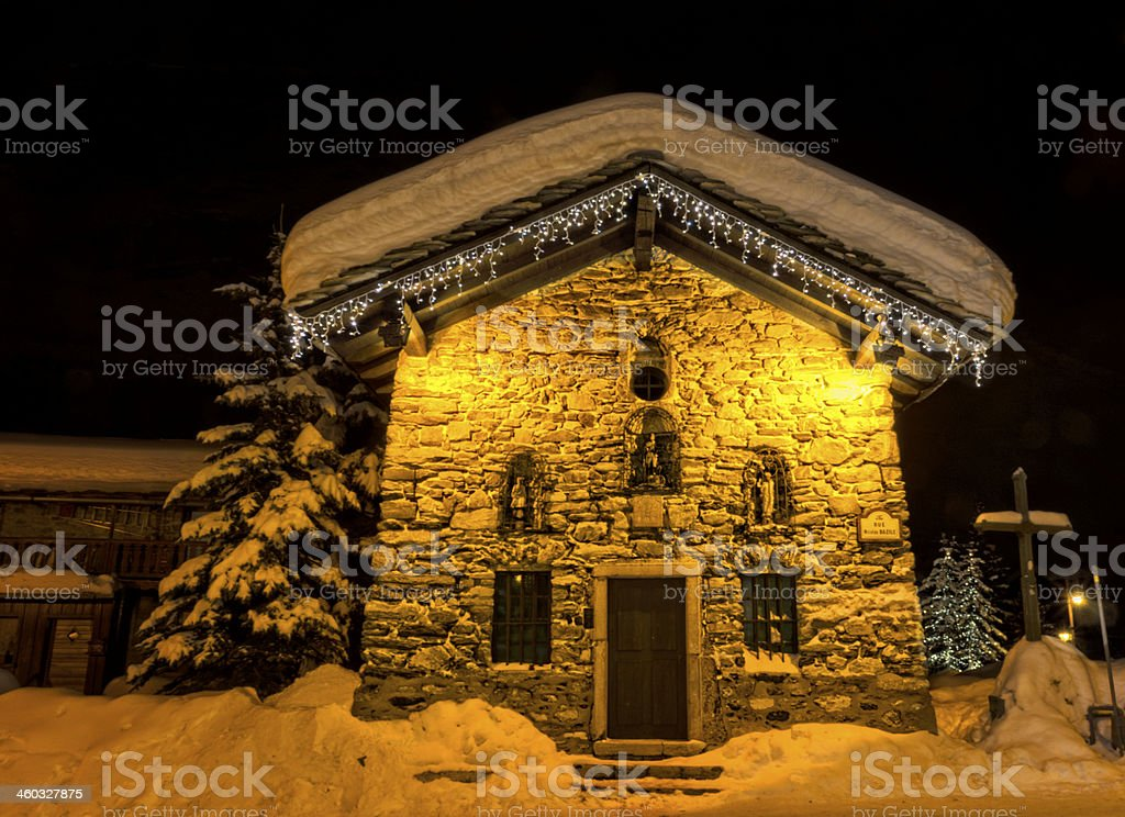 Val D'isere Christmas stock photo