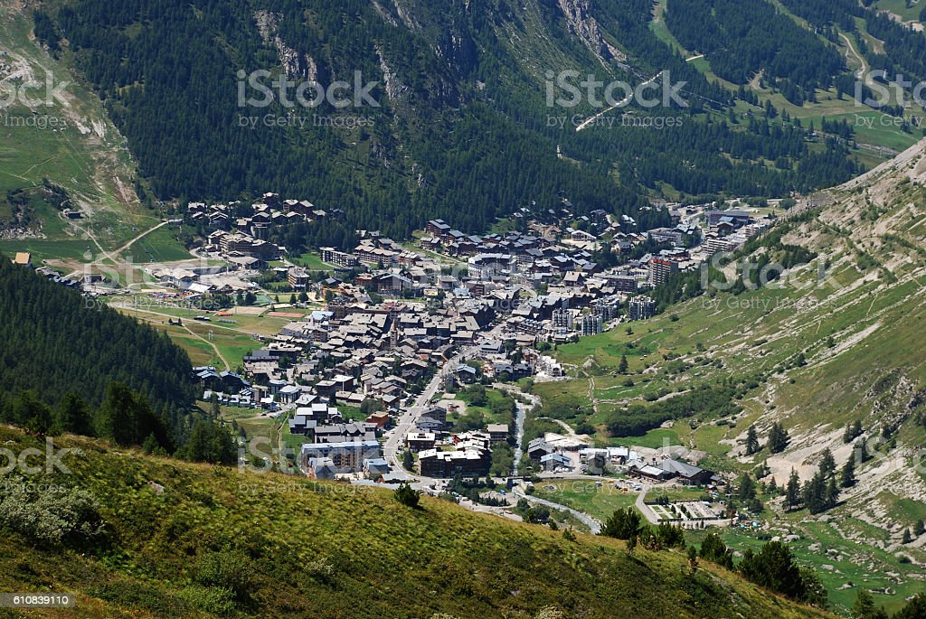 Val d'Isere stock photo
