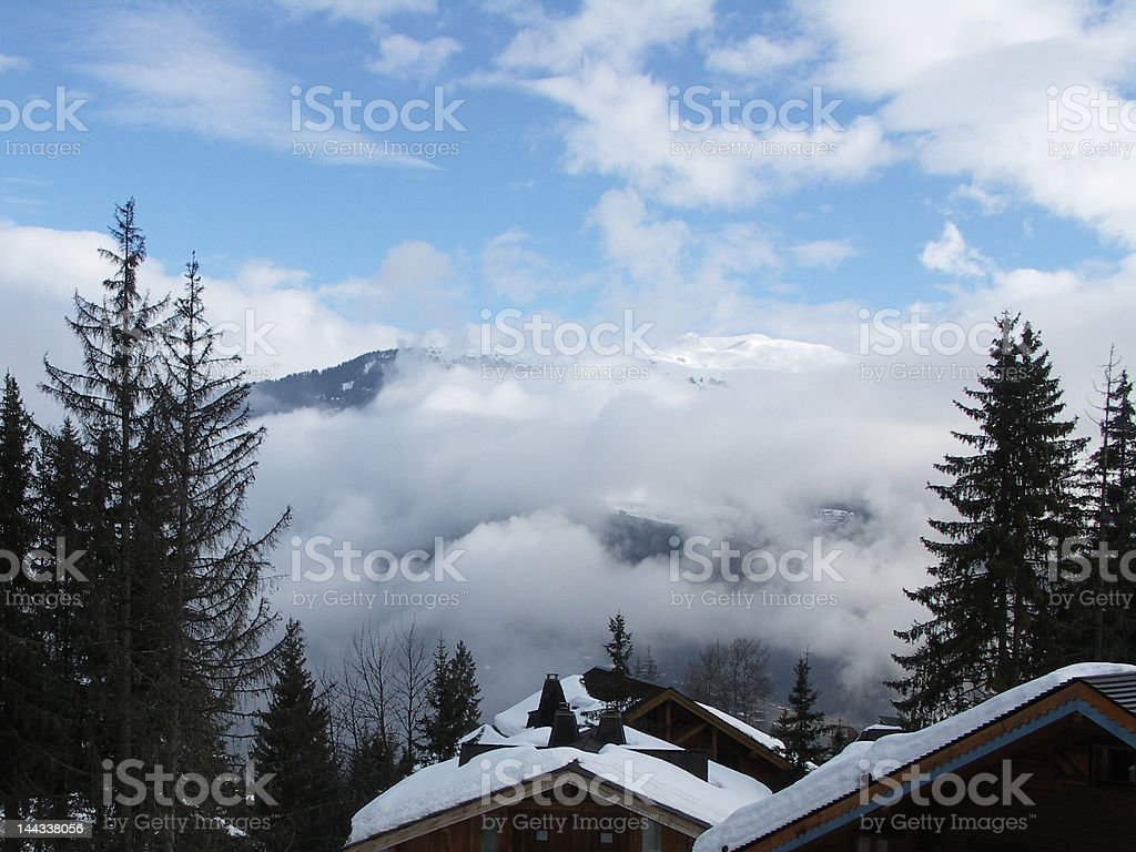 Val d'isére mountains in the French alps royalty-free stock photo