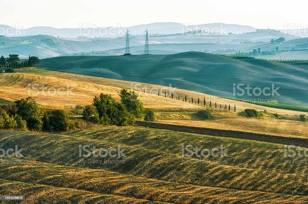 Val D'Orcia Landscape during Summer inTuscany royalty-free stock photo