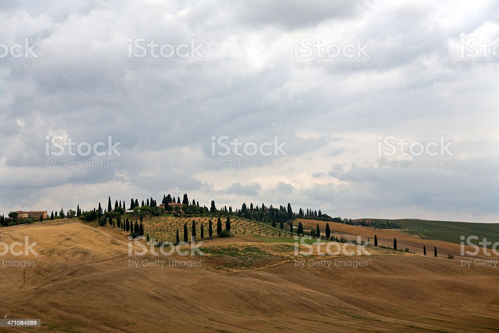 Val d'Orcia landscape I royalty-free stock photo