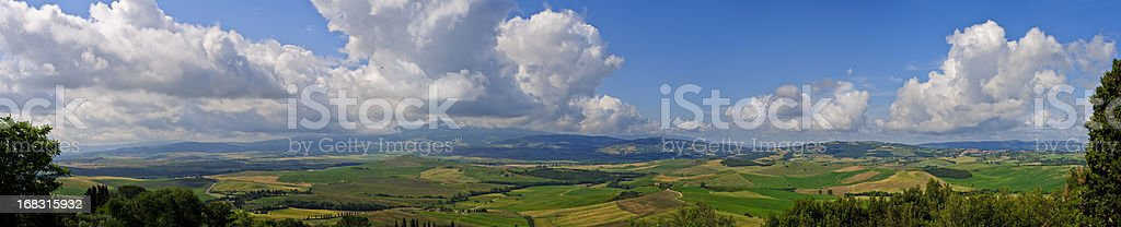 Val d'Orcia Landscape - Italy royalty-free stock photo