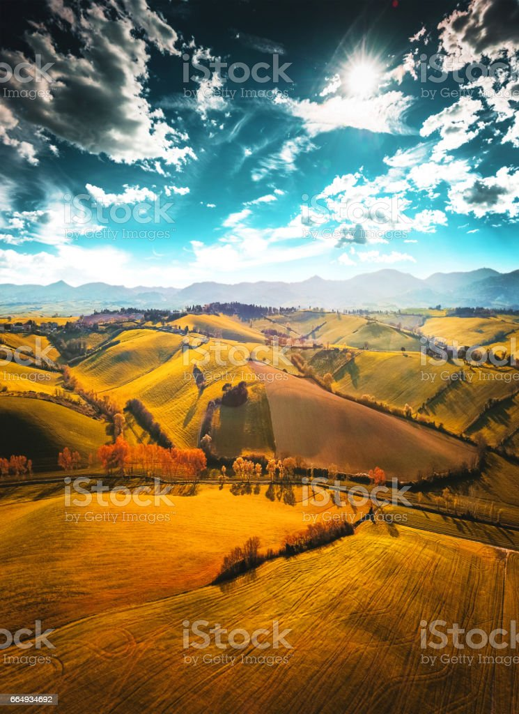 Val d'orcia landscape stock photo