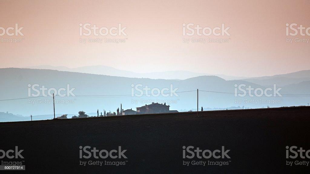 Val d'Orcia, Toscana - Italia stock photo