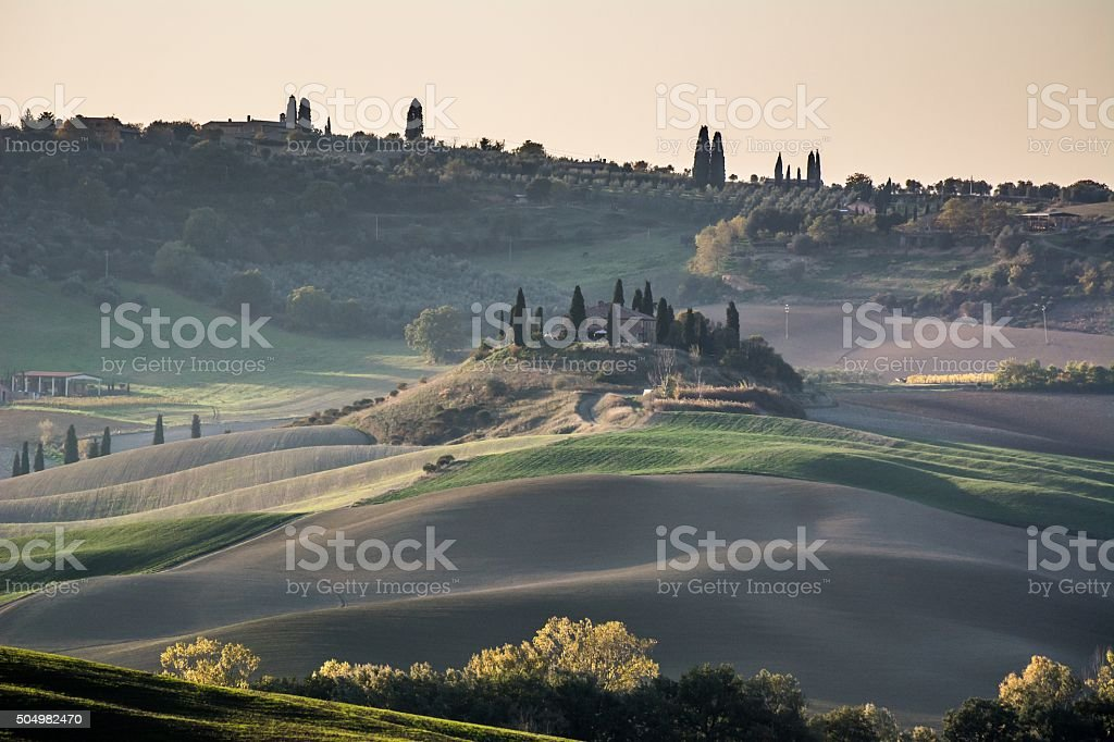 Val d'Orcia, Toscana - Italia stock photo