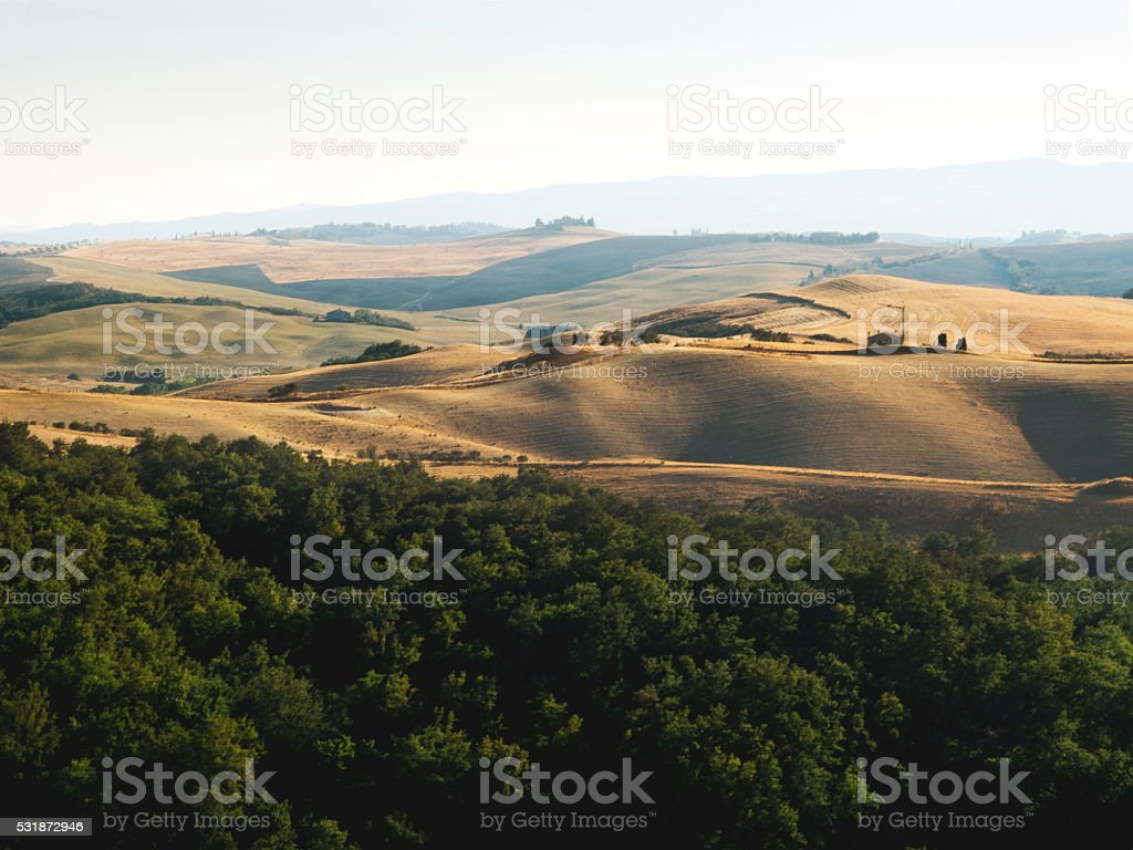 Val d'Orcia Tuscany stock photo