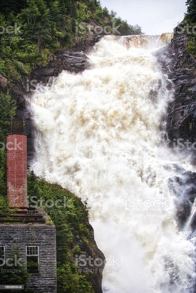 Val Jalbert waterfalls stock photo