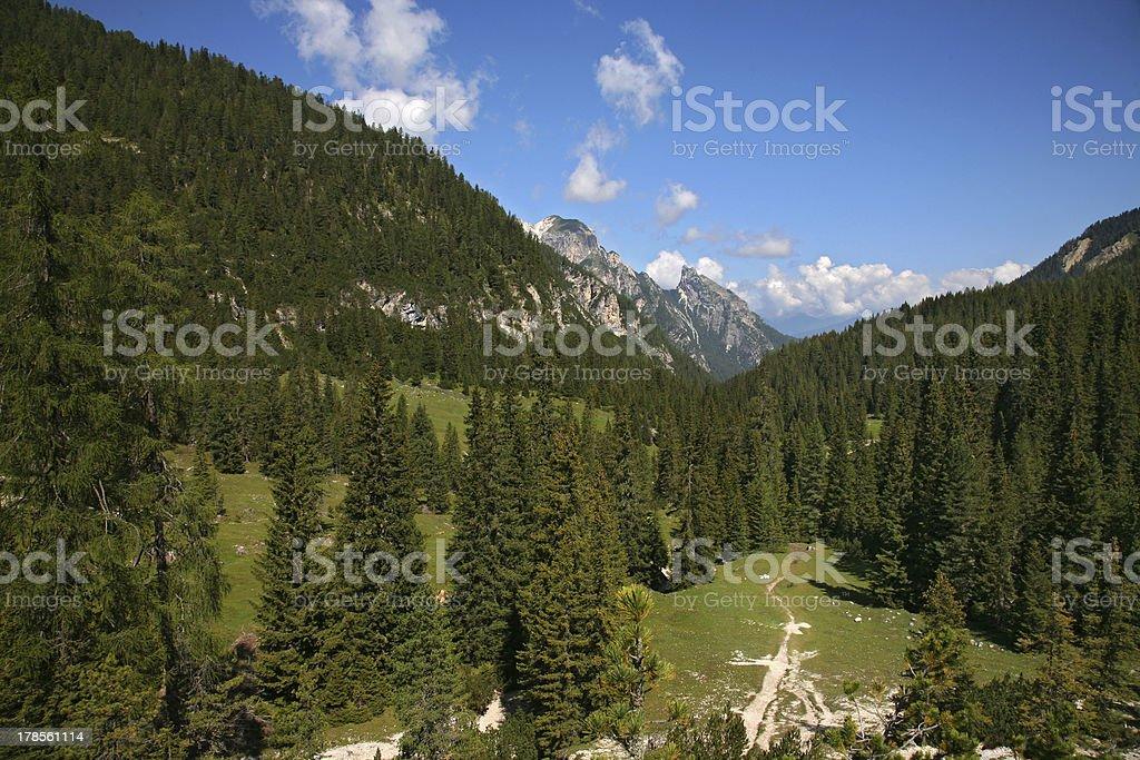 Val Pusteria, Dolomite  - Italy royalty-free stock photo