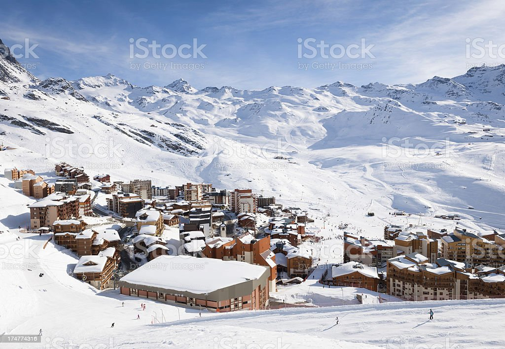 Val Thorens in the Three Valleys royalty-free stock photo