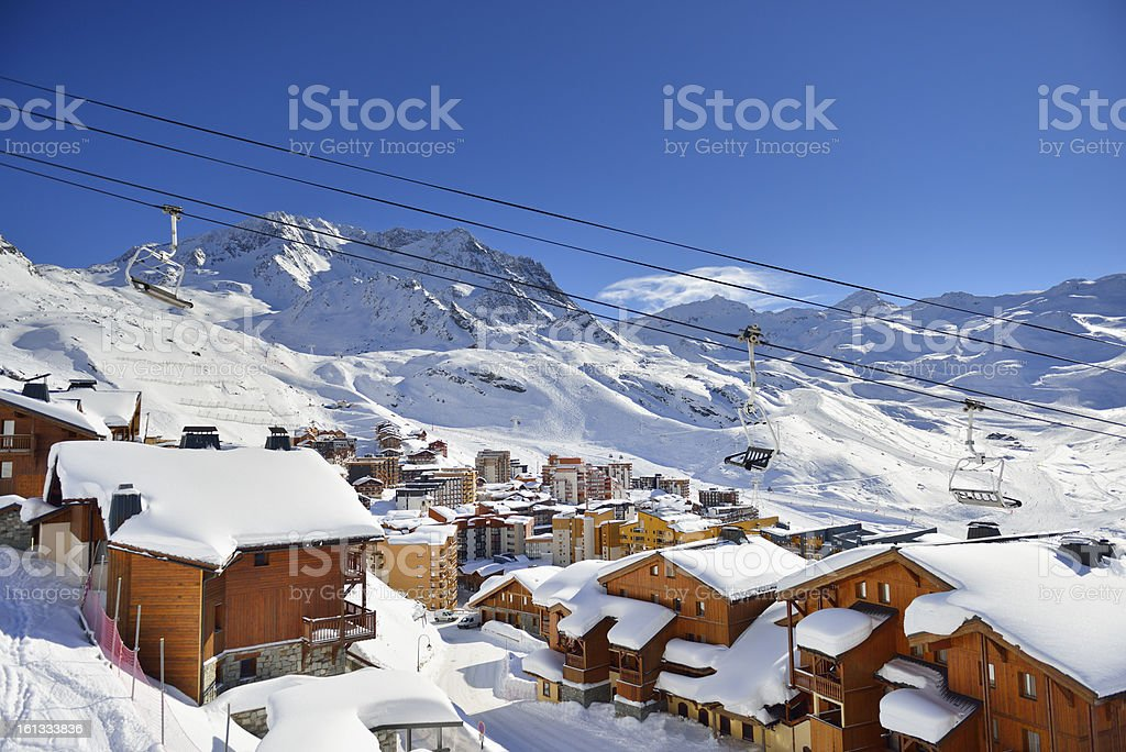 Val Thorens stock photo