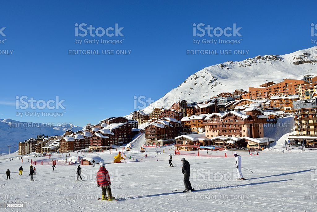 Val Thorens Ski Piste royalty-free stock photo