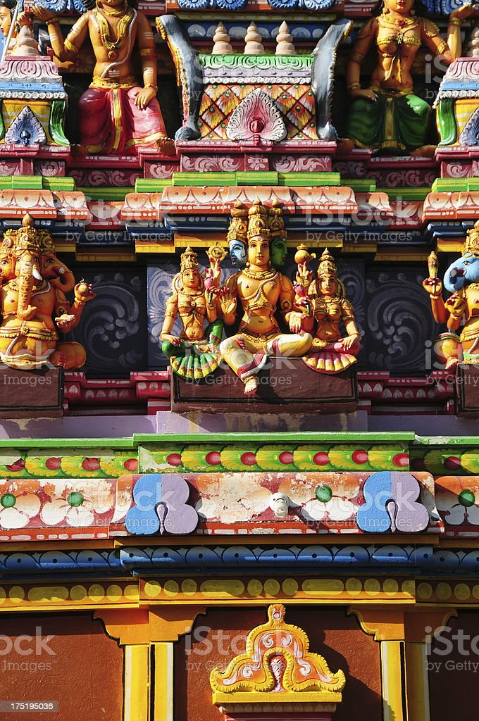 Valaichchenai-Kalkudah road Temple,Sri Lanka. royalty-free stock photo