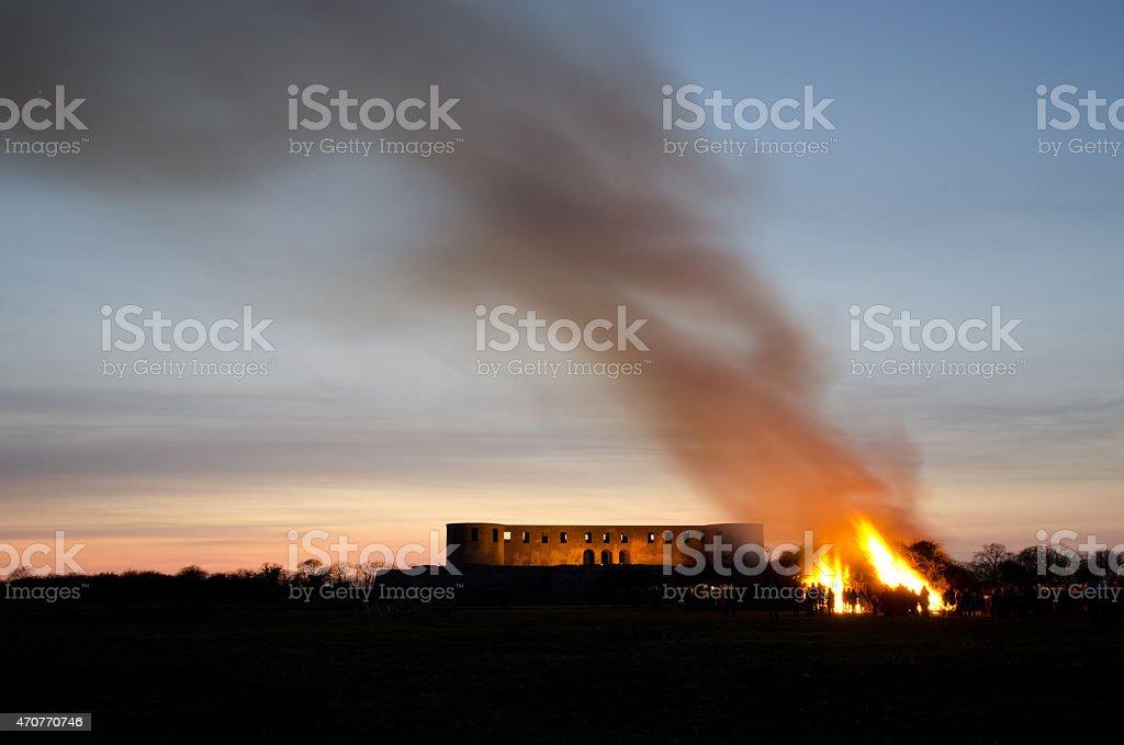 Valborg fire stock photo