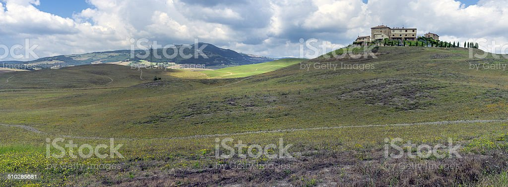 Valdelsa-Tuscany-panorama. Color image stock photo