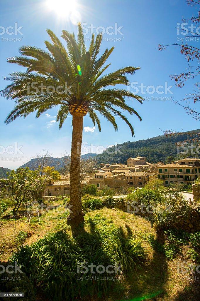 Valdemossa old town Majorca Palma de Mallorca fairy vilage stock photo