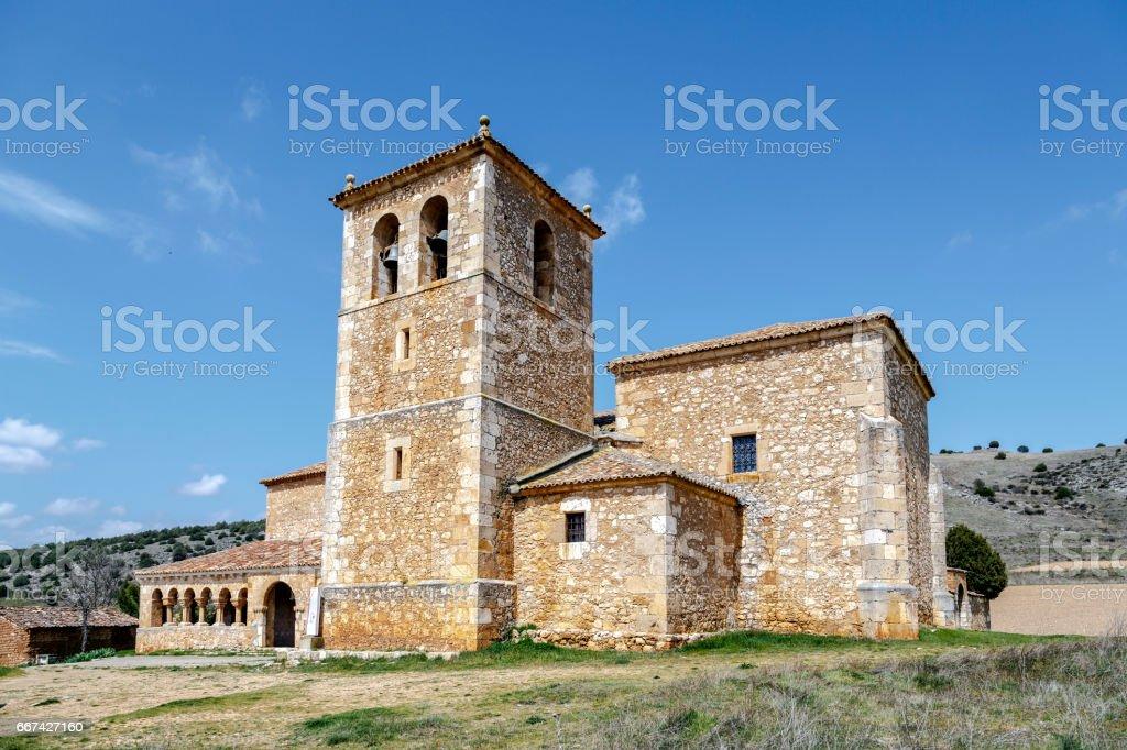 Valderrodilla Church stock photo