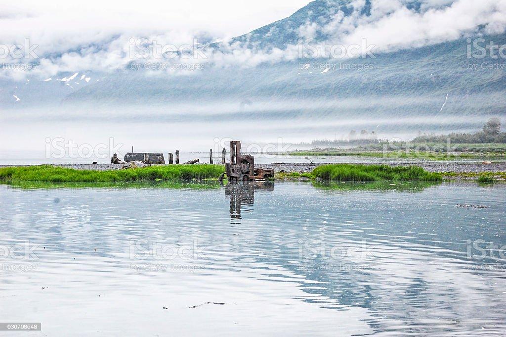 Valdez Bay - Alaska stock photo