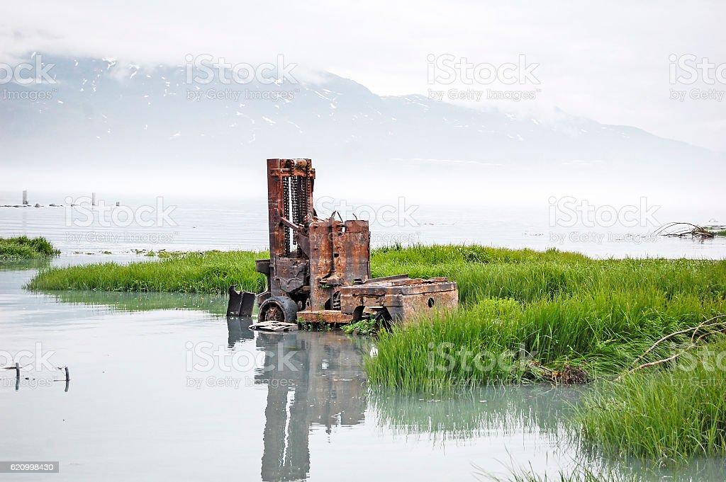 Valdez Reflection stock photo