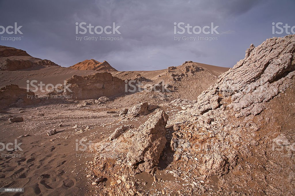 Vale de la Luna - Atacama Desert, Chile royalty-free stock photo