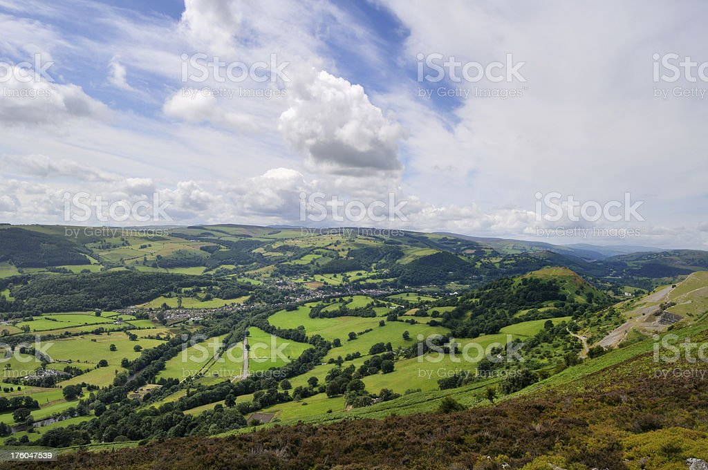 Vale of Llangollen royalty-free stock photo